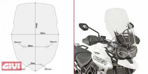 Givi Windschild transparent für Triumph Tiger 800 XC/XR (18)